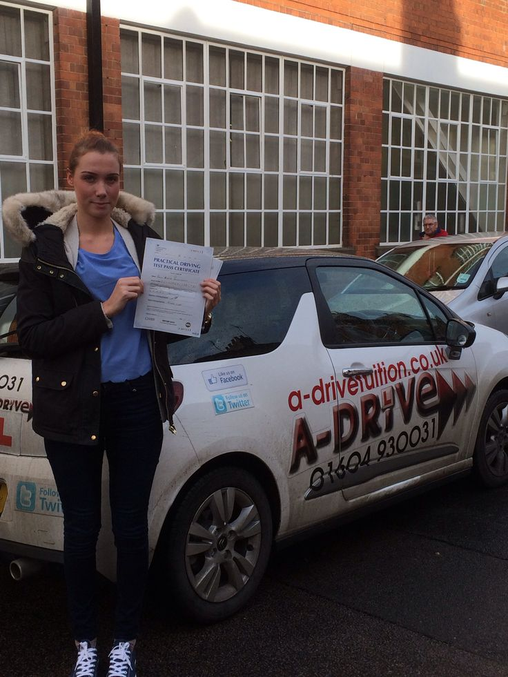 """Congratulations Paris Romain-Spence passing her driving test at Northampton Driving Test Centre 11/12/14 with Andrew Batty of www.adrivetuition.co.uk  01604 930031  #Driving #Adrive #DrivingTest #DrivingSchools #DrivingLessons #DrivingInstructors #Northampton #Daventry #Towcester #Wellingborough #Northants  Paris said """"I'm so happy to have passed my driving test. Thanks to Andrew for all your help. I will definitely be passing your number on"""""""
