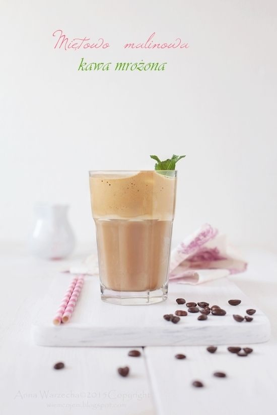 Mrożona kawa miętowo-malinowa @ wiemcojem