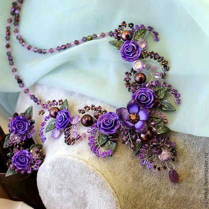"""Sets of handmade jewelry.  Fair Masters - handmade.  Buy Package """"in purple tones.""""  Handmade.  Purple"""