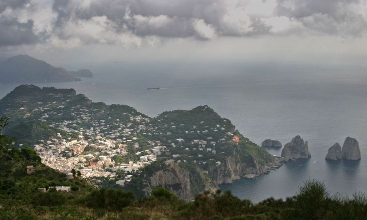 View of Capri and the Faraglione from Monte Solaro, Isola di Capri, Campania, Italy www.italyunfettered.com