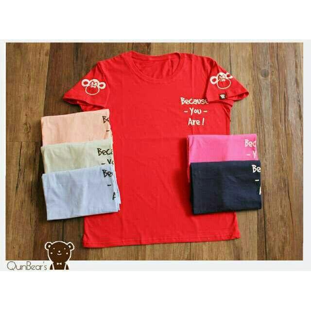 Saya menjual Kaos wanita / big because of you / kaos lengan pendek / size XL seharga Rp45.000. Dapatkan produk ini hanya di Shopee! https://shopee.co.id/ssfashionkaos/660866172 #ShopeeID