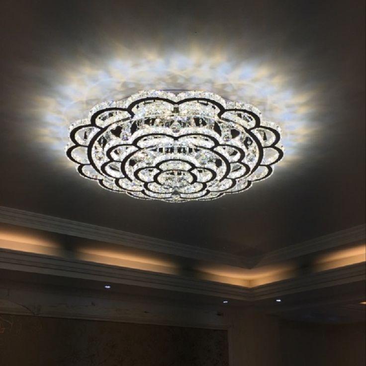 Lustre Crystal Led Ceiling Light For Living Room Lighting Fixture Remote  Control Modern Lamp Home Bedroom Part 95