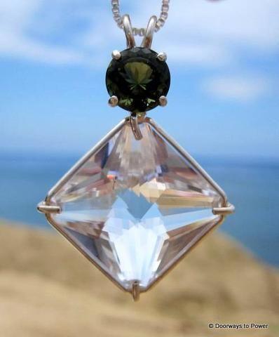10 best magician stone pendant healing crystal pendants images on quartz magician stone pendant w moldavite aloadofball Choice Image