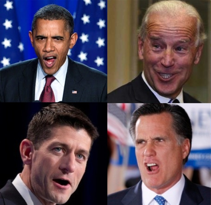 What emotion is each candidate feeling by looking at their facial expression?