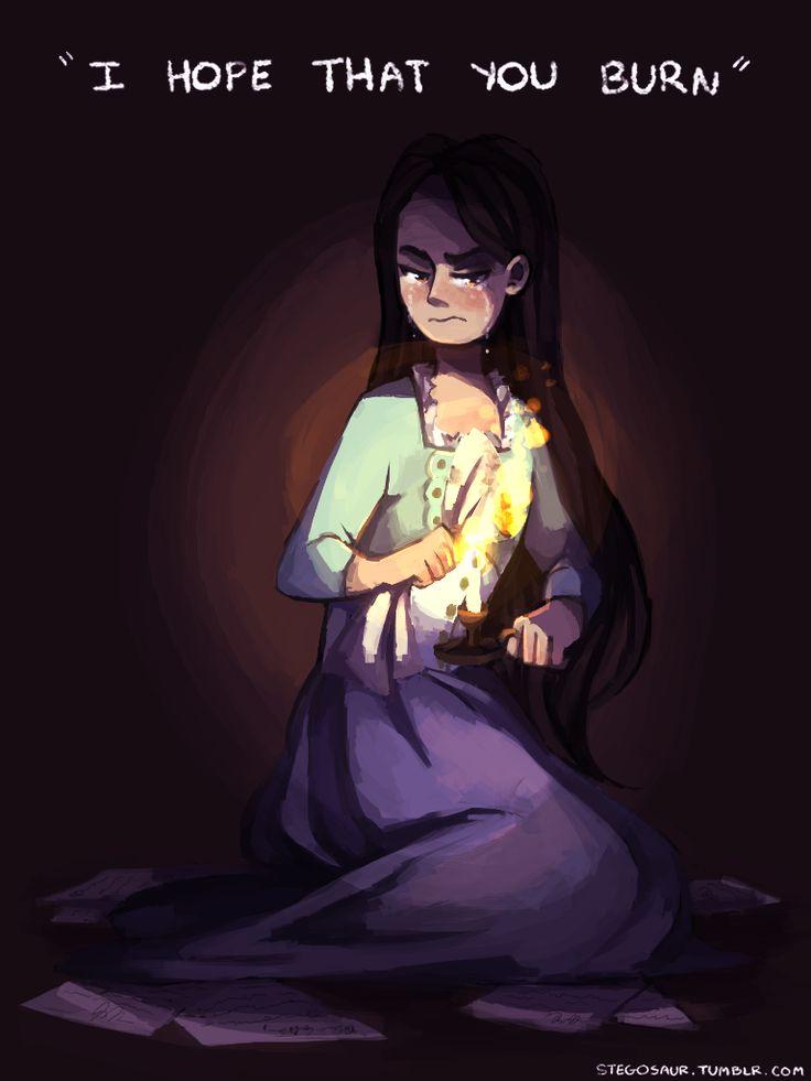 Let future historians wonder how Eliza reacted when you broke her heart...