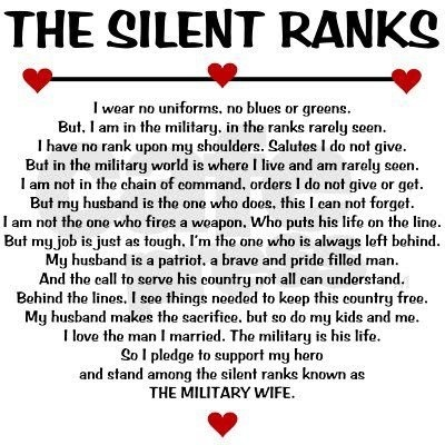 Military wife for 30+ yrs