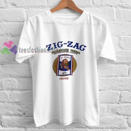 Zig Zag France t shirt gift tees unisex adult cool tee shirts
