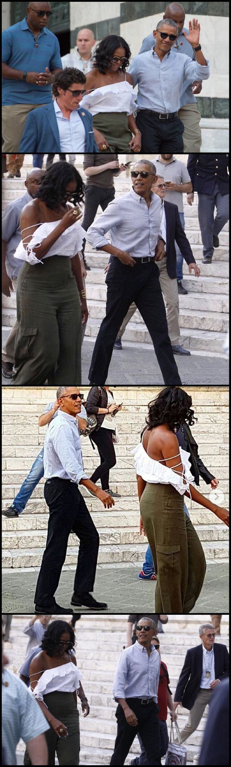 Siena Tuscany Italy 5/22/17 #TheObamas arrived in Italy escorted by six fighter jets on Friday May 19, 2017 LOVE the OBAMAS So glad I am smarted enough to have appreciate them from the first time they hit the scene....I Want That Top