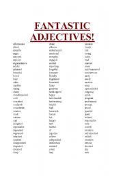 list of adjectives - Google Search