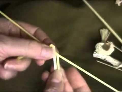 Плетение из соломы Лист с ажурным краем.mp4 - YouTube