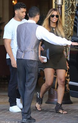 Ciara and her pregnancy steps out in mini dress for breakfast date with hubby Russell Wilson