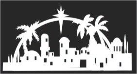 Bethlehem arch silhouette pattern - Fineline could cut this (or other silhouettes) out of foam for us