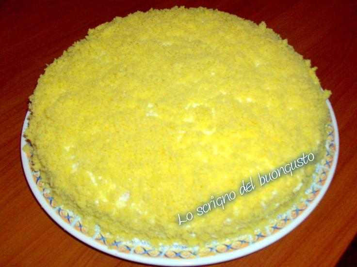 TORTA MIMOSA                                              CLICCA QUI PER LA RICETTA http://www.loscrignodelbuongusto.com/altre-ricette/ricette-delle-feste/472-torta-mimosa.html