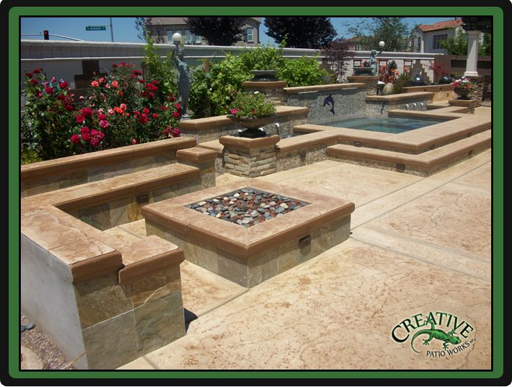 Concrete Patio Work : Best images about fire water on pinterest pits