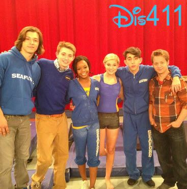 "Dylan Riley Snyder And The ""Kickin' It"" Cast Filmed With Gabby Douglas April 15, 2013"