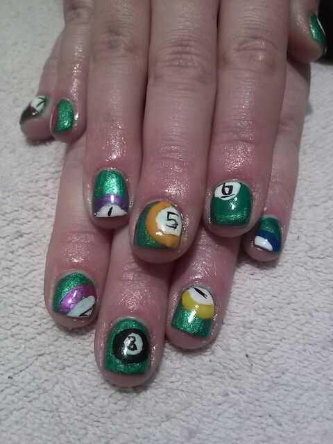 Pool Ball Nails Pool Billiards Nails Nails By Robyn