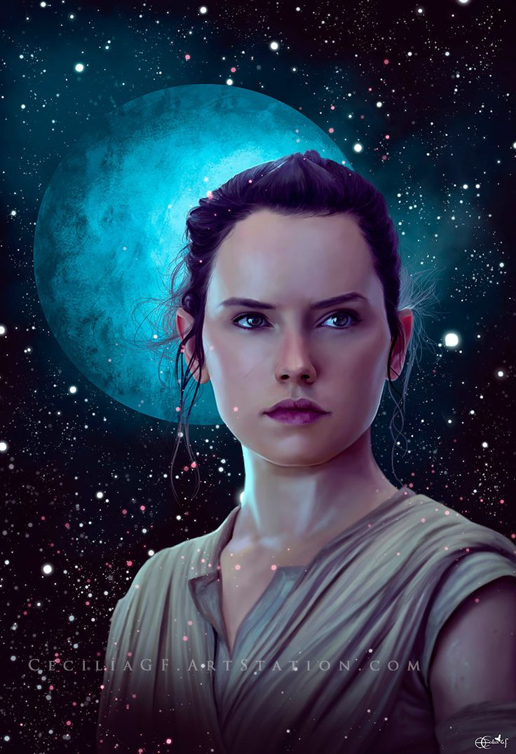 Rey, Cecilia G.F. on ArtStation at https://www.artstation.com/artwork/BReQk - More at https://pinterest.com/supergirlsart #starwars #star #wars #portrait #fanart