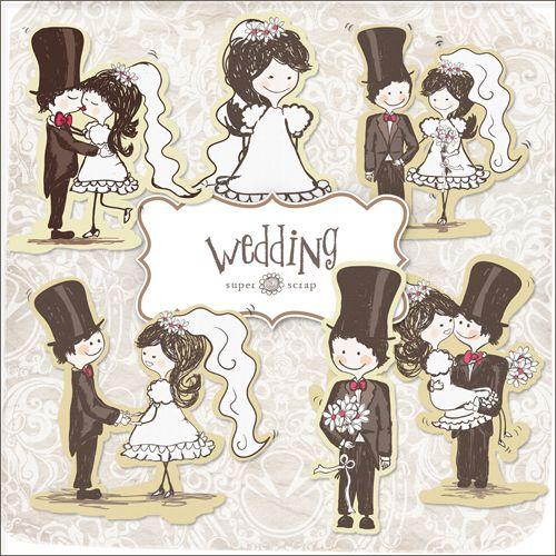 Свадьба клипарт винтаж торты