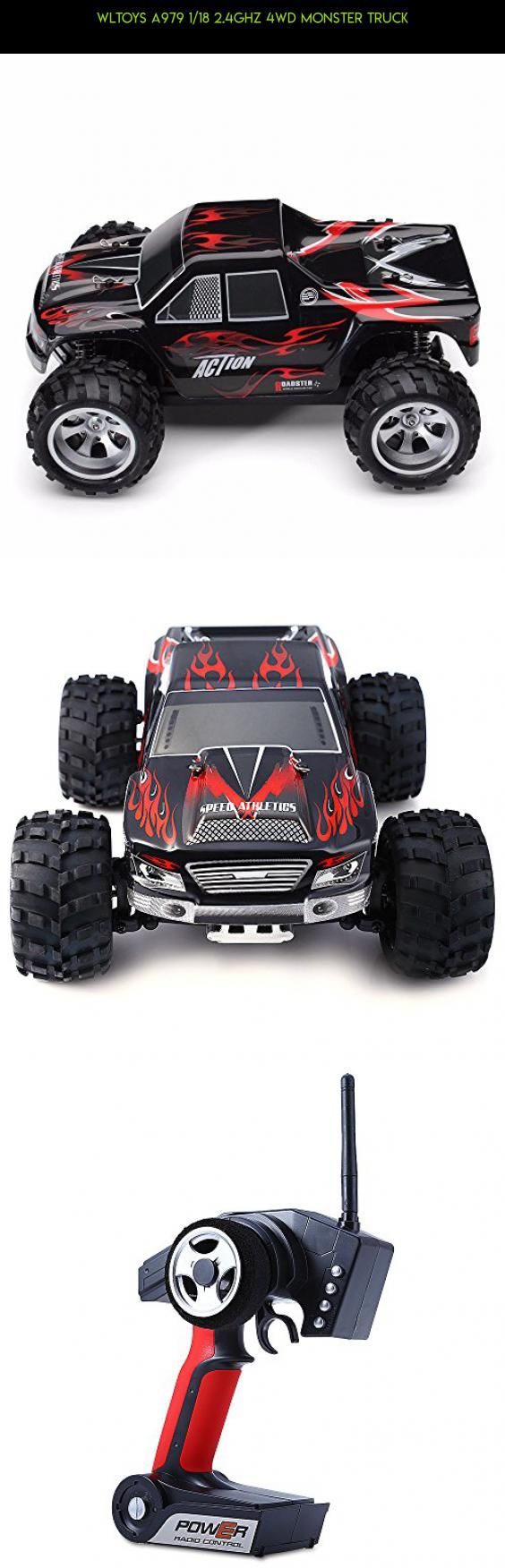 Wltoys A979 1/18 2.4GHz 4WD Monster Truck #plans #parts #truck #shopping #gadgets #camera #products #drone #tech #racing #kit #wltoys #technology #monster #fpv