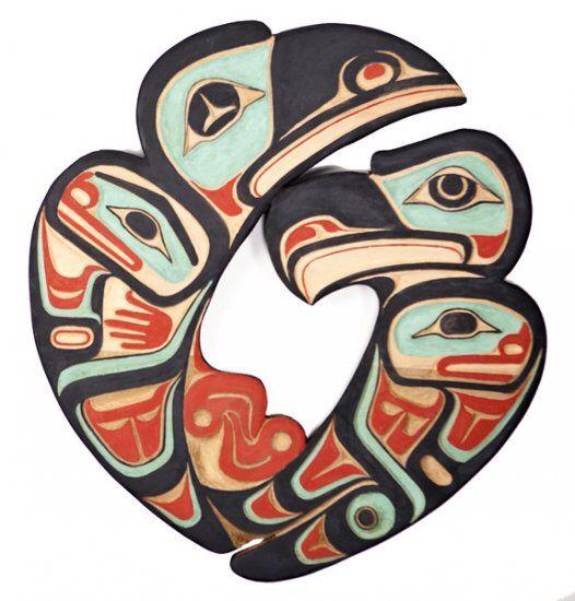 Alaskan Indian Art - Eagle and Raven