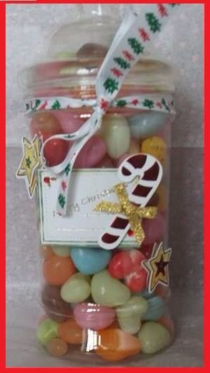 Vintage sweet jar filled with Jelly Beans by Sweet Memories