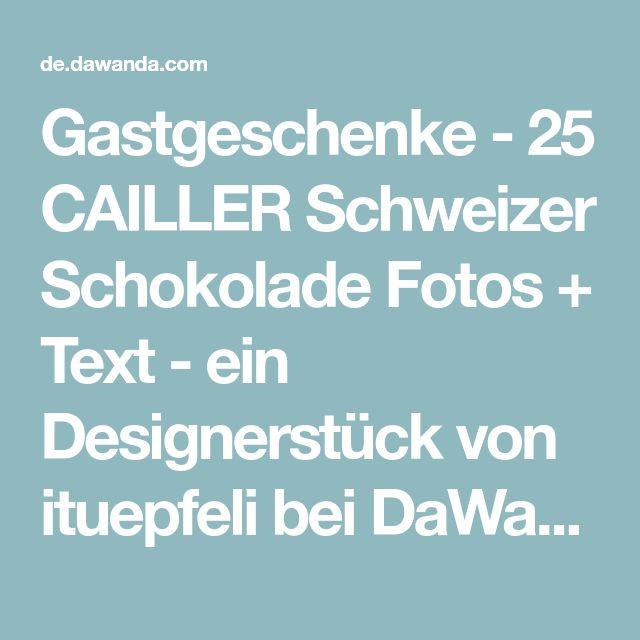 Gastgeschenke - 25 CAILLER Schweizer Schokolade Fotos + Text - ein Designerstück von ituepfeli bei DaWanda