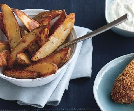 Roasted Potato Wedges with Cilantro-Lime Mayonnaise - Melissa Roberts ...