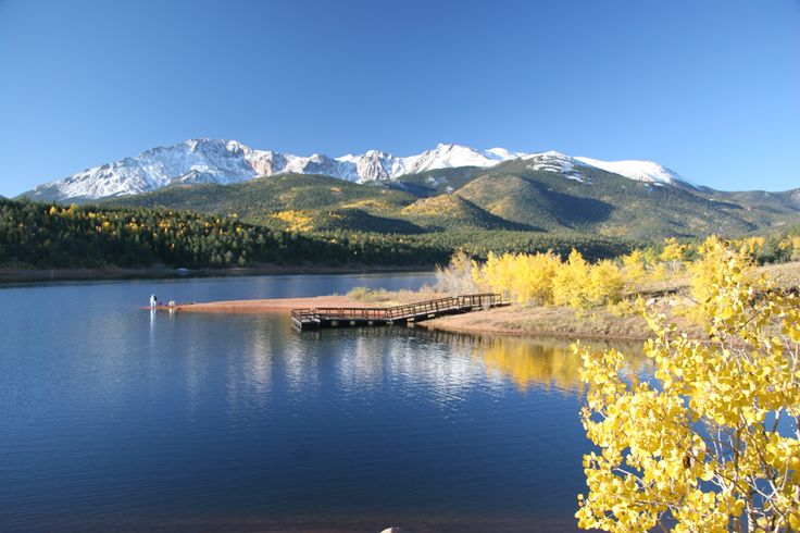 Pike's Peak with the Aspens changing color in the Autumn, Colorado, www.RevWill.com