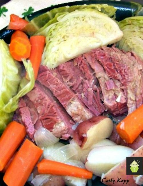 Delicious Corned Beef Dinner. A very easy recipe for stove top, oven or slow…
