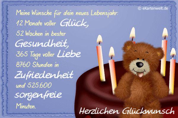 Geburtstagswünsche Glück Gesundheit