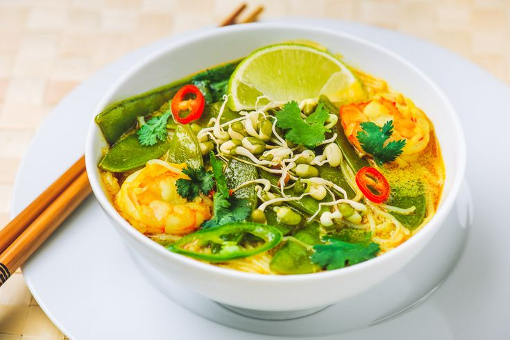 Laksa soup, yummy and refreshing.