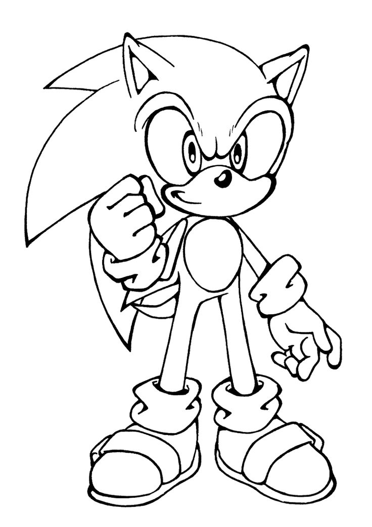 Sonic Coloring Pages Shadow