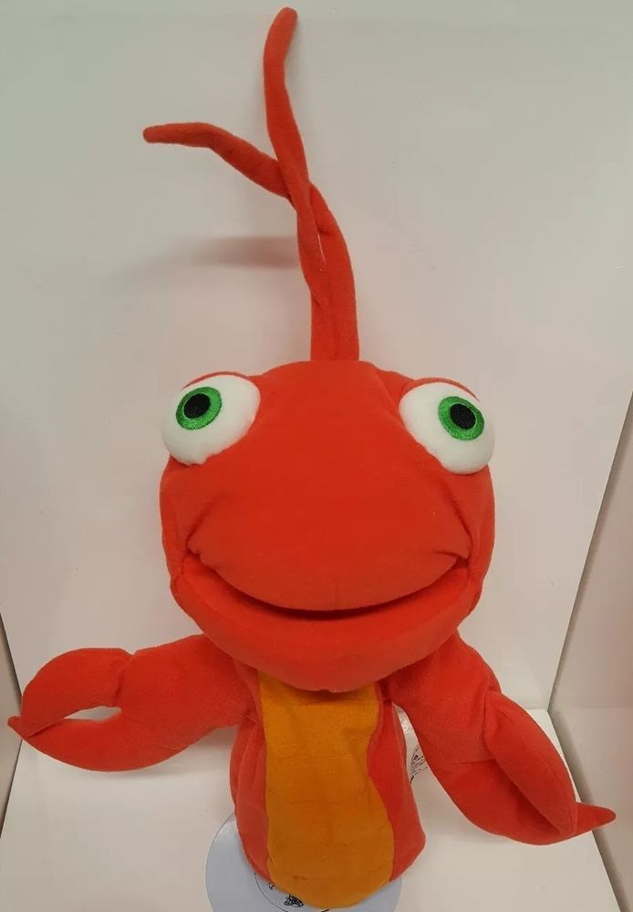 Leo Red Lobster Plush Hand Puppet Stuffed Animal Toy Ocean Crabby