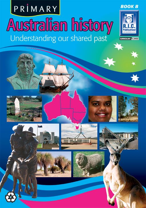 Australian History Year 2. The first Australians, Aboriginal Australians, red waratah, exploring Australia, the first settlement, the gold rush, federation, World War I, World War II, Aboriginal Australians today and Australia and sport.