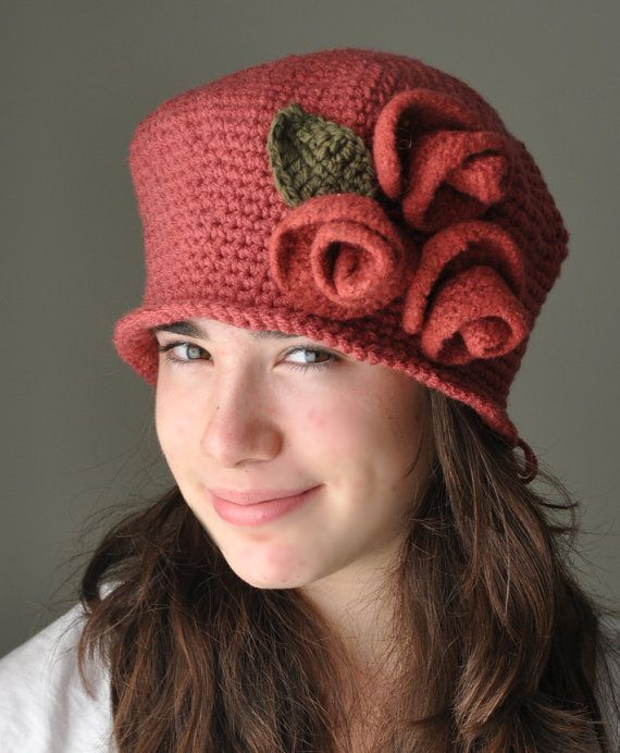 158 best Rose Crochet Cloche Hats images on Pinterest ...