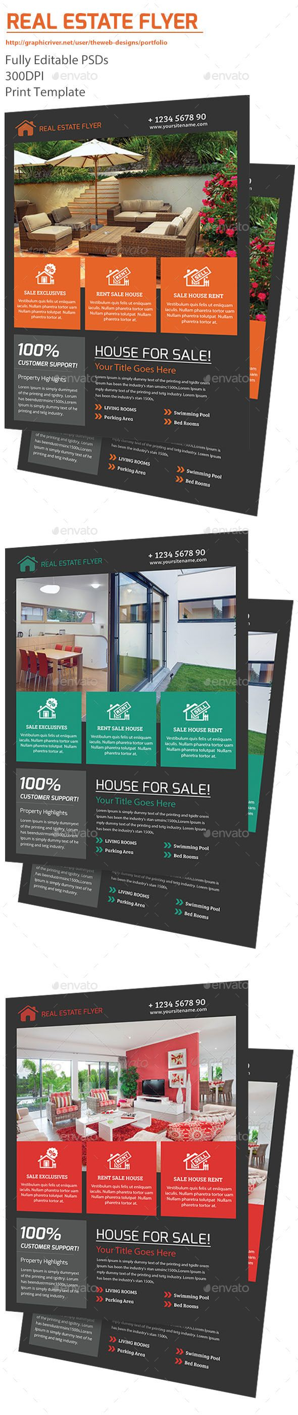 Real Estate Flyer Template #design Download: http://graphicriver.net/item/real-estate-flyer/12732936?ref=ksioks