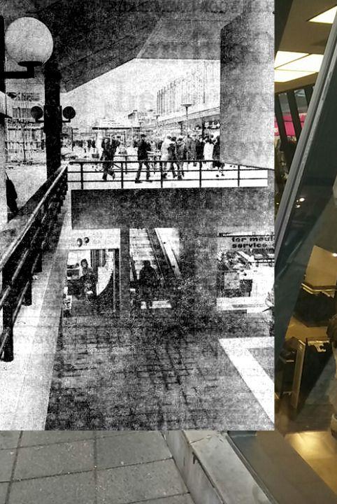 """Bioscoop aan (onder) de Lijnbaan, de """"berenkuil """" jaren 70, later de kelder van Termeulen."""