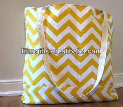 canvas tote bags wholesale chevron print  | 2013 High quality cotton canvas chevron tote bag wholesale