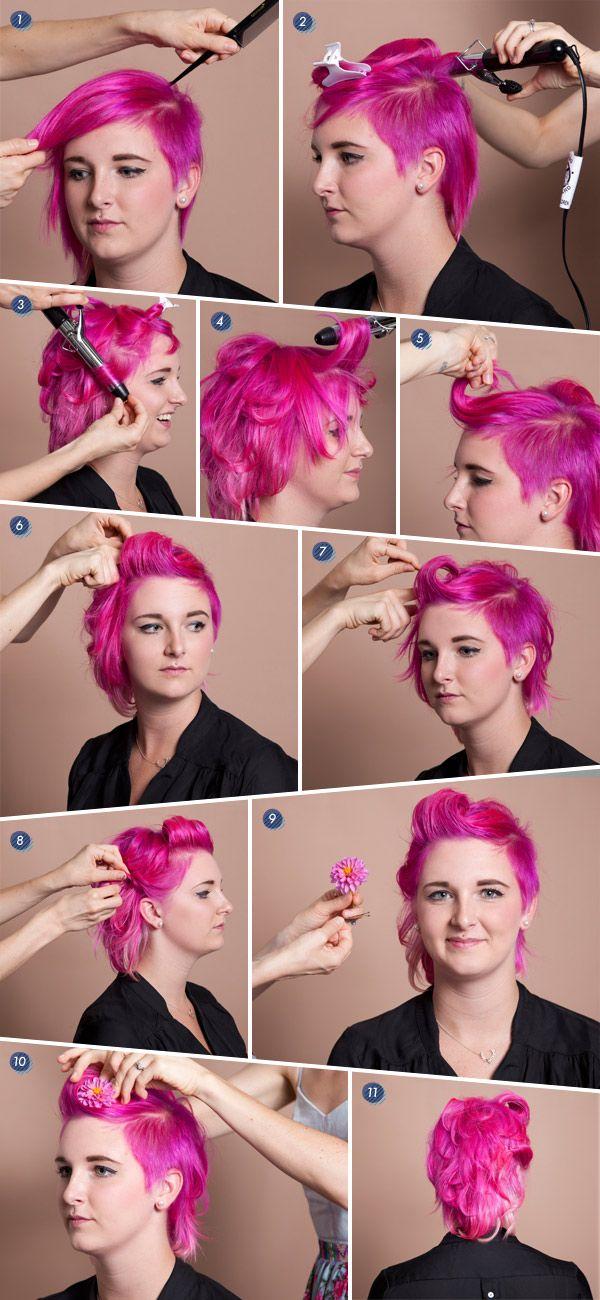 101 best short hair tutorials images on pinterest make up looks short hair tutorial solutioingenieria Gallery