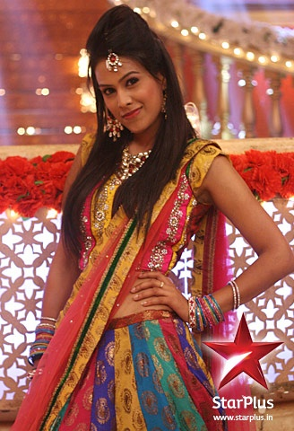 Maanvi dazzels in a colourful chaniya choli.