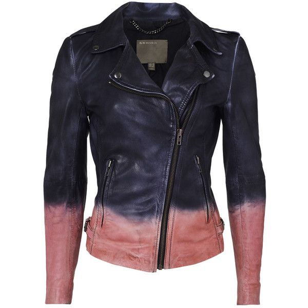 Dying leather jacket