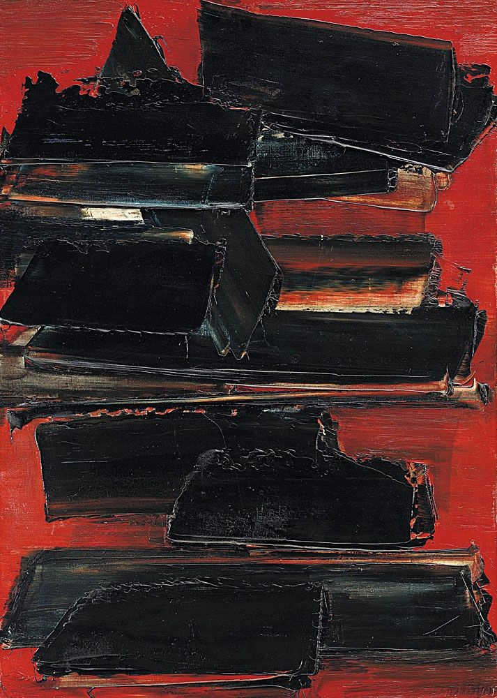 1000 images about artiste peintre pierre soulages on pinterest oil on canvas sons and search. Black Bedroom Furniture Sets. Home Design Ideas