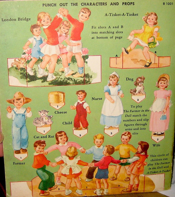 Nursery Games Back Cover *** Paper dolls for Pinterest friends, 1500 free paper dolls at Arielle Gabriel's International Paper Doll Society, writer The Goddess of Mercy & The Dept of Miracles, publisher QuanYin5