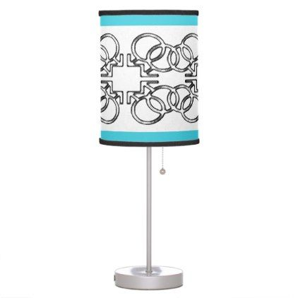 Charlie's Unique Gay Greek Symbols linked Table Lamp - decor gifts diy home & living cyo giftidea