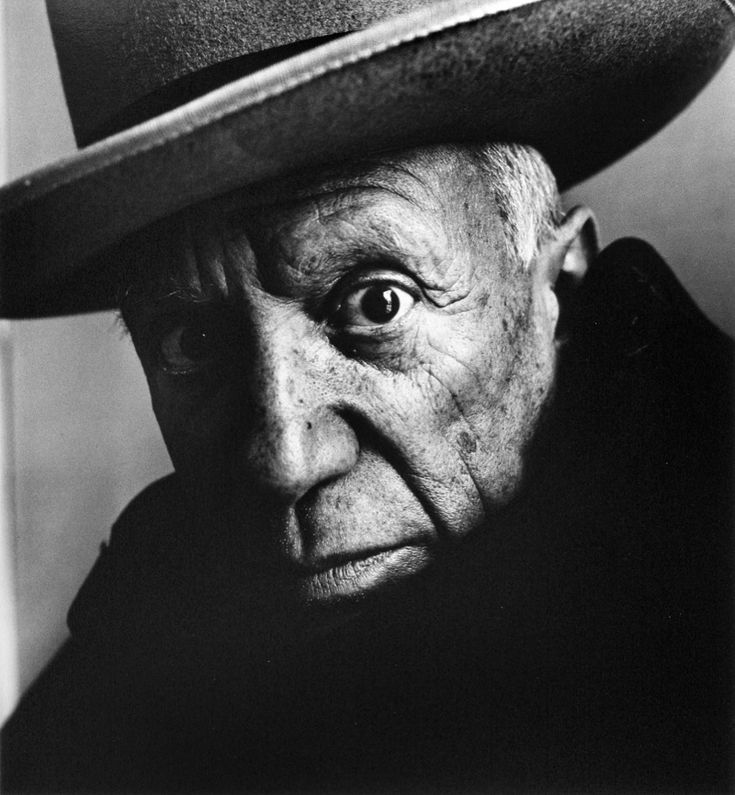 Pablo Picasso by Irving Penn I love the tight crop on this one and the focus on one eye. Not many people can pull off a hat this well either.