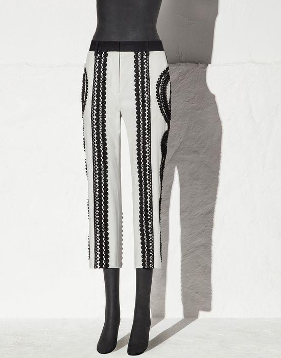 PANTALONI MALLEOLO COTONE STRETCH PASSAMANERIA - Pantaloni capri - Dolce&Gabbana - Estate 2015