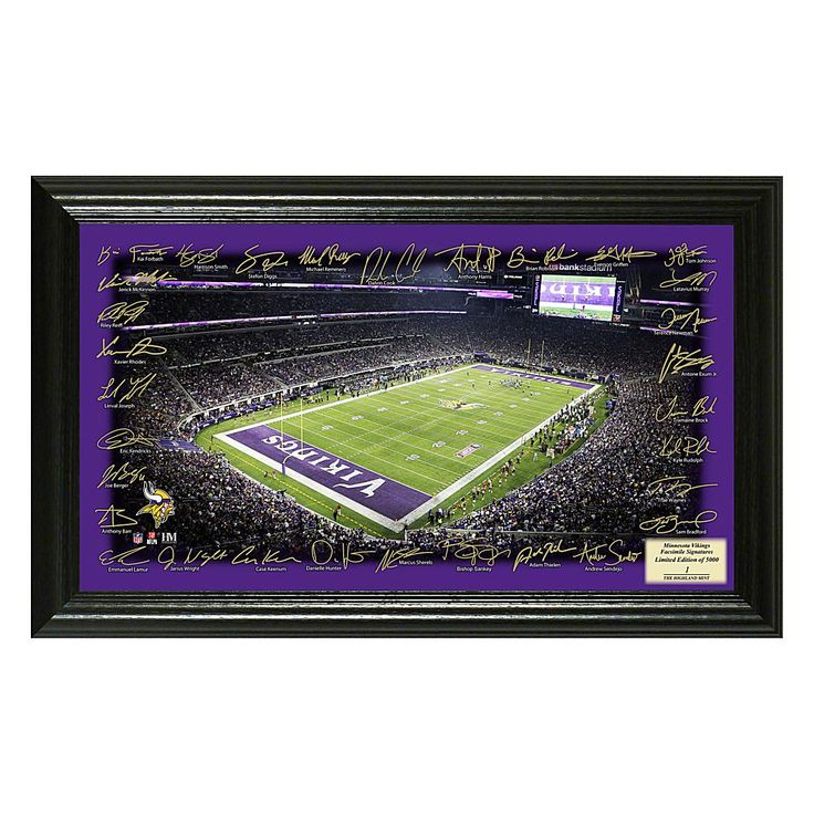 Officially Licensed NFL 2017 Signature Gridiron Print - Vikings