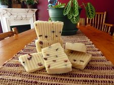 Cranberry Goat's Milk Soap with dried cranberries