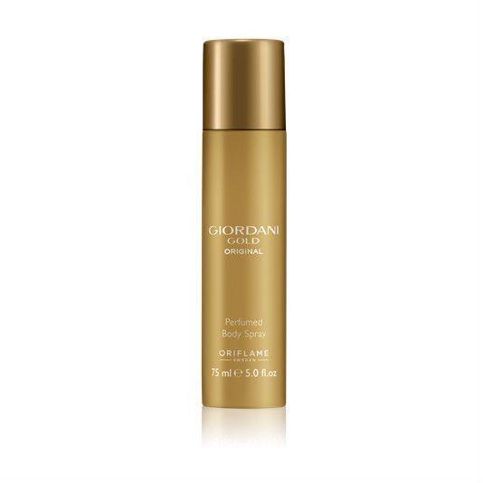 Perfumowany dezodorant do ciała w sprayu Giordani Gold Original OPIS Twój ulubiony zapach z rodziny kwiatowo-drzewnej teraz w postaci perfumowanego dezodorantu. Ponadczasowa, charakterystyczna nuta kwiatu pomarańczy, idealna dla kobiety z pasją.