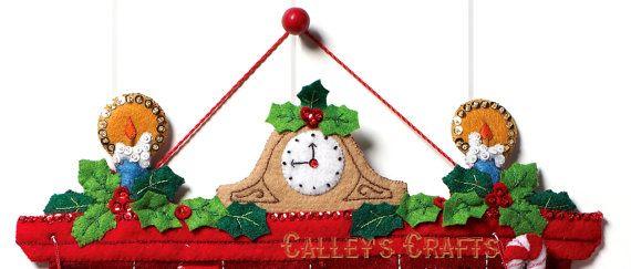 Bucilla muss Weihnachtsmann sein ~ Fühlte Weihnachten Adventskalender Kit 86312 Geschenke Spielzeug 2012 DIY   – natal